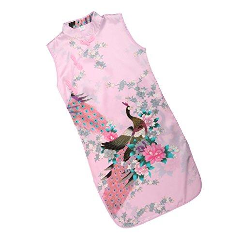 Sharplace Kinder Mädchen Qipao Cheongsam Geisha Kostüm Partykleider Asia Kinder Qipao Cosplay Kinder - Rosa, 8 (Geisha Mädchen Rosa Kostüm)