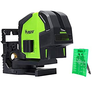 3-Point Self Leveling Alignment Laser Level, Huepar 8300G Professional Green Laser Level with 2 Plumb Points,Projection to accurately transfers and Plumb,Align Level, 90-Degree and Grade Points