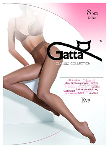 Eve gatta 8den–elegant sottile trasparente di seta collant neutro m