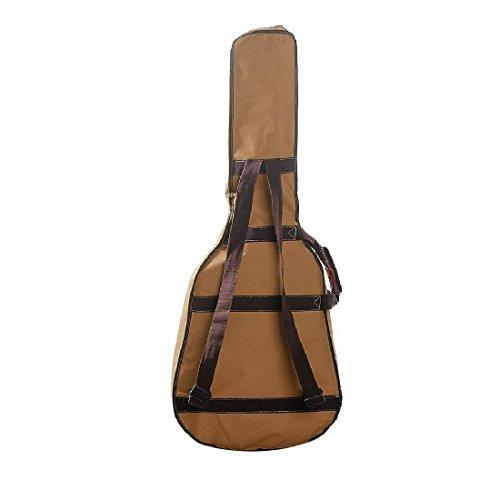 Imagen de correas de cabezal doble fijo pu canvas gig bag–funda acolchada para 40cm folk  acústica