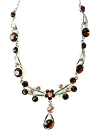 Trendit Collar con Swarovski Piedras–Varios colores