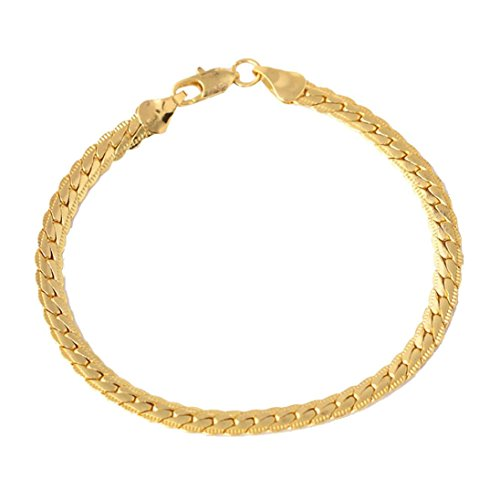 Armband, Voberry Unisex Punk Gold Armband Kette Armband Armreif Hip Hop Schmuck (Hiphop Armbänder Männer)
