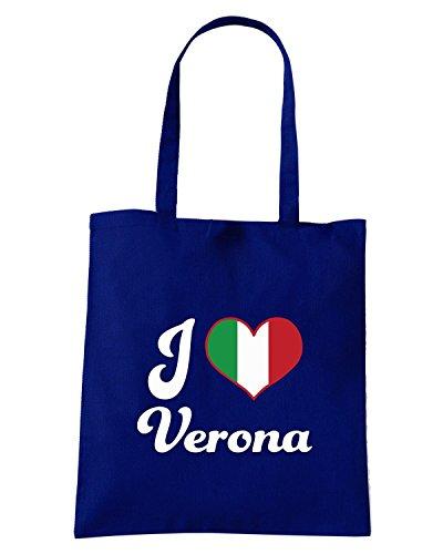 T-Shirtshock - Borsa Shopping TLOVE0089 italy i heart verona Blu Navy