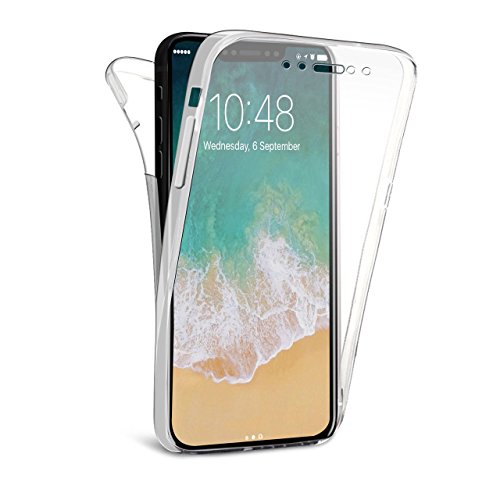 Price comparison product image C63® Apple iPhone X Shockproof Clear Protective Case Cover. Front and Back 360 Protection