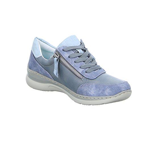 Alyssa 5008-L2-B Damen Schnürhalbschuh Casual Blau (Blau)