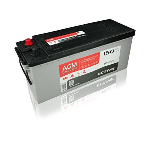 Preisvergleich Produktbild ECTIVE 150Ah 12V AGM Batterie EDC-Serie VRLA Versorgungsbatterie in 7 Varianten: 65Ah - 230 AH (wartungsfrei)