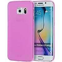 doupi UltraSlim Case per Samsung Galaxy S6 Edge satinato fine piuma facile Mat semi transparente Copertura Tacsa Custodia Caso Cover - pink