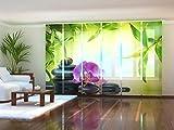Wellmira Fotogardine, Flächenvorhang, Fotodruck, Schiebevorhang, Bedruckte Schiebegardinen, Gardine mit Motiv, auf Maß (6 x 225x70)