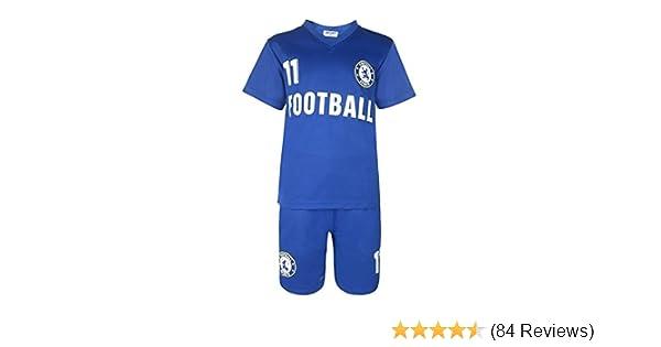 310f05be BOYS FOOTBALL KIT SHORT SET ROYAL BLUE 2-13 YEARS #CHL: Amazon.co.uk: Sports  & Outdoors