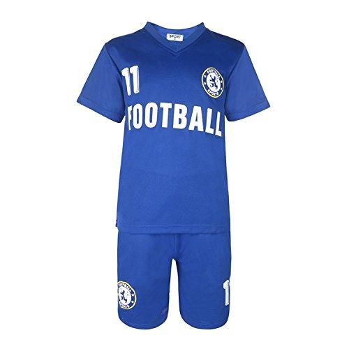 BOYS FOOTBALL KIT SHORT SET CHELSEA BLUE/BLUE #CHELSEA (10-11 YEARS #10)