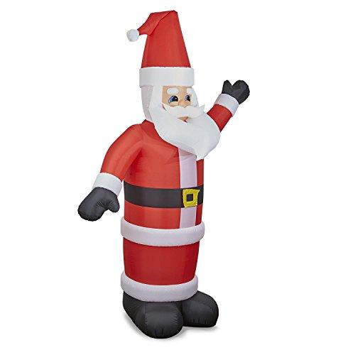 oneConcept Santa XXL - aufblasbarer Weihnachtsmann, Weihnachtsdekoration, 350 cm, LED-Beleuchtung, geräuscharmes Gebläse, witterungsbeständig, spritzwassergeschützt IP44, bunt