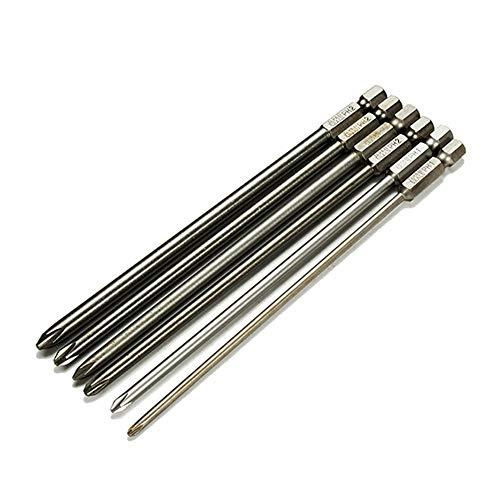 Ensemble d'accessoires pour outils précis Tournevis cruciforme 6pcs 150mm 3mm-6mm Tournevis à tête hexagonale magnétique Tournevis électrique