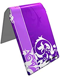 Stray Decor (Floral Purple) Étui à Cartes / Porte-Cartes pour Titres de Transport, Passe d'autobus, Cartes de Crédit, Navigo Pass, Passe Navigo et Moneo