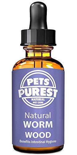 Pets Purest Vermifuges anti-parasitaire 100% naturel pour les chiens les chats la volaille les oiseaux les lapins et les animaux domestiques. Enlève efficacement tous les vers, trichocéphale et ténia