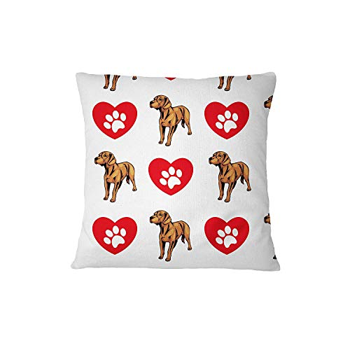 wanshangcheng Hanover Hound Dog Heart Paws Sofa Bed Home Decor Pillow Cover Pillow & Cover Set