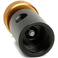 Anqeeso Adaptador de aleación de aluminio de 5,5 cm de CO2 roscado G1/2-14 para llenado de tanque SodaStream CO2 ASA ON/OFF adaptador