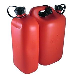 proveedor ferreterías: Oregon 562407 - Combi-can rojo, 5 litros de combustible y aceite de 3 litros