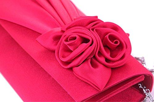 BAITER bella serata moda borsa di alta qualità pochette per feste e matrimoni rosso  - rosso