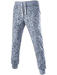 Allegra K Hommes Taille Élastique w Cordon Sur Tous Paisleys Jogging Pantalon survêtement