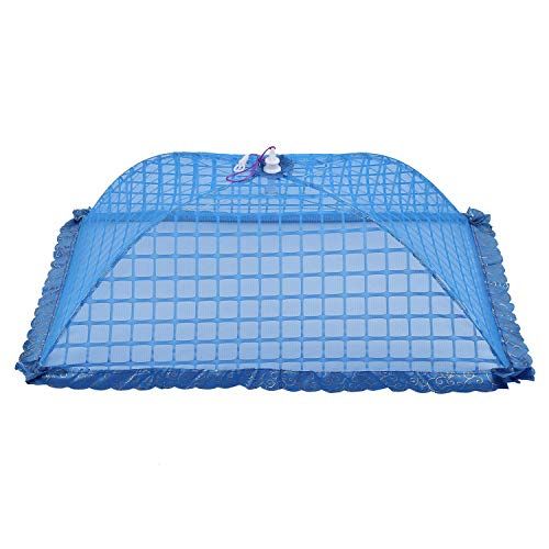 Toogoo Set of 1 Square Mesh Screen Umbrella Food Cover Net Tents Reusable and Folding 72X51Cm for Pi