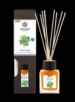 Baldini Feelglück Bio-Raumduft Set aus 100{87ea9a74bac661696ed6d43c6666abae58a6f80dc1ad7d9285c48df4546ea092} naturreinen Rohstoffen, demeter