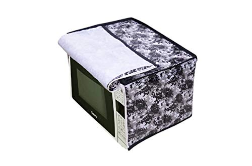 Amazin Homes PVC Printed Microwave Oven Full Closure Cover for 20 Litre(Multicolor)