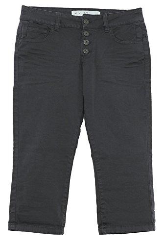 Twill-hose Kurz (Q/S by s Oliver Bermuda Twill Jeans Slim Fit Caprihose Kurze Hose Damen Stretch, Farbe:dunkelgrau;Damengrößen:42)