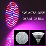 Atoz prime 15W E27 90 Red 36 Blue Garden Plant Growth LED Bulb Greenhouse Plant Flower Seedling Light