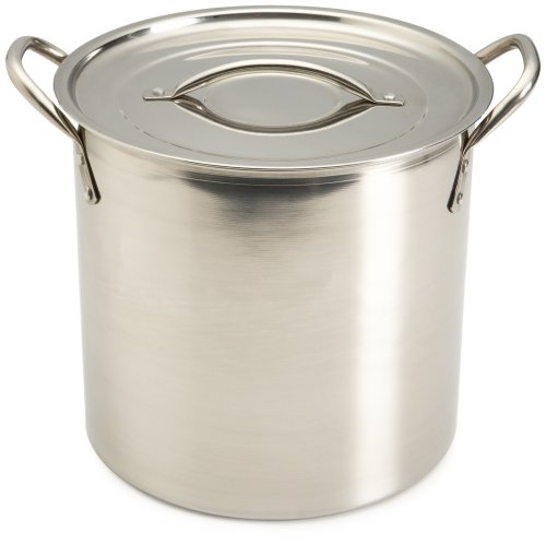 Good Cook 8 Quart Covered Stainless Steel Stock Pot by Good Cook 8 Quart Stock Pot