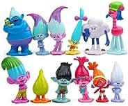 "12pcs Trolls Toys, Mini Trolls Action Figures ,Cake Toppers ,Trolls Cake Tall 1.18""-2.76&quo"