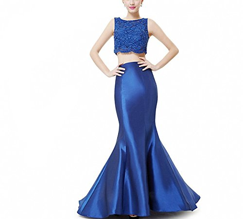 Meibida - Robe spécial grossesse - Taille empire - Sans Manche - Femme Bleu Saphir