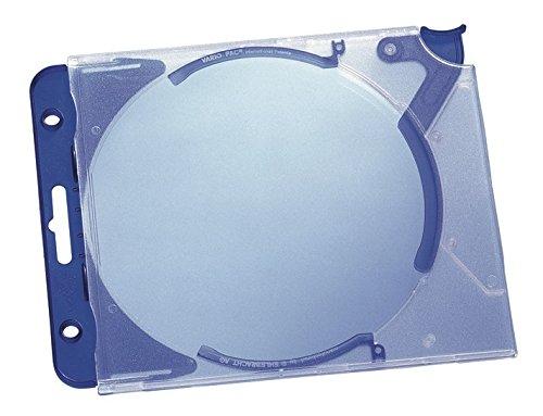 rdbox Quickflip complete für 1 CD, PP, 155x126x27mm, transparent/blau, 5 Stück (Cd-hüllen Blau)