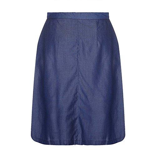 Yumi - Jupe taille haute - Femme Bleu foncé