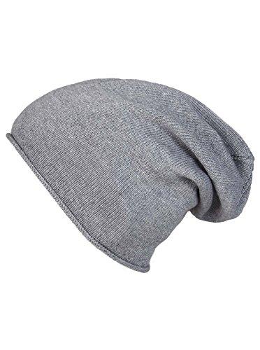 Slouch-Beanie-Mütze mit Kaschmir - Hochwertige Strickmütze für Damen Mädchen...