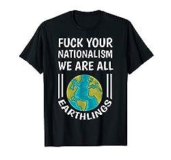 Lustiger Spruch Gegen Rechts Nationalismus Geschenk T-Shirt