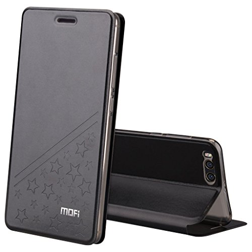 Preisvergleich Produktbild XiaoMi Mi6 Flip Schutzhülle - Star-Muster PU Lederhülle Folio Hülle (Abdeckung Eingebaute Stahl Flake ) TPU Transparent Unterseite für XiaoMi Mi6 - Schwarz