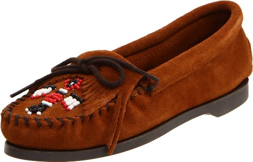 Minnetonka Women's Thunderbird Moccasin,Brown,5.5 M US Thunderbird Moc