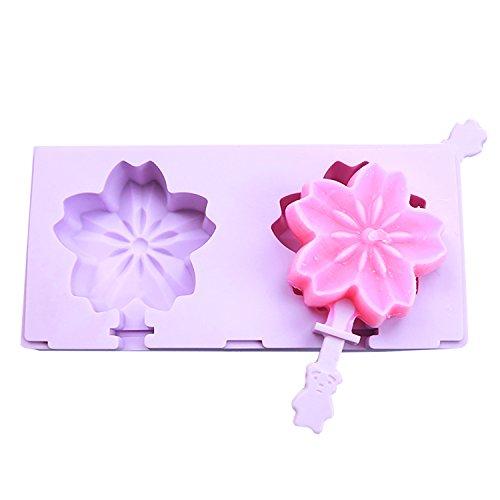 beicemania Stapelbar Eisformen Bpa Frei Oval Klassik Eisform Kirschblüte Blumen Sakura Lila Eisformen Silikon Mit Popsicle Sticks