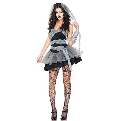 Vampire Karneval Zombies erwachsenen Frauen Kostüm Geister Braut Kleid sexy schwarzen,Size M (Erwachsene Frauen Sexy Kostüme)