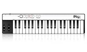 IK Multimedia iRig Keys Lightning Tastiera Controller MIDI Universale per iPad, iPhone, iPod Touch e Mac, Nero