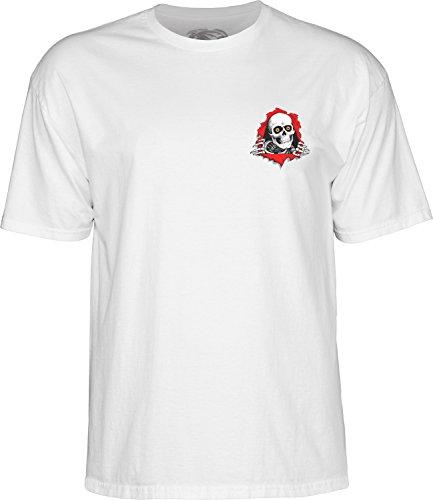 powell-peralta unterstützt Ihren lokale Skate Shop-Weiß Large T-Shirt -