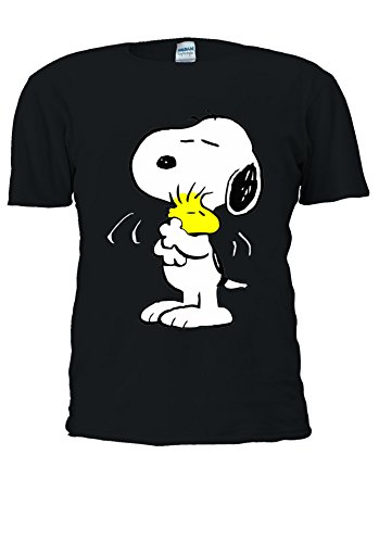 Snoopy PEANUTS Cartoon Happy Cute Men Women Unisex Top T Shirt-XL