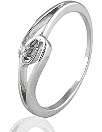 His & Her Diamonds .925 Sterling Silver and Diamond Ring