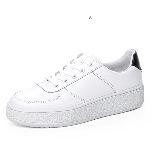 Baskets De Printemps, Chaussures De Conseil, Jurchen Chaussures En Cuir Blanc, Chaussures De Loisirs Coréens, Chaussures À Semelle Épaisse Avec Plat A