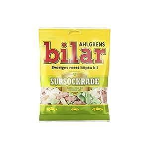 Ahlgrens Bilar Sursockrade - Sour Soft Chewy Marshmallow Cars (100g)