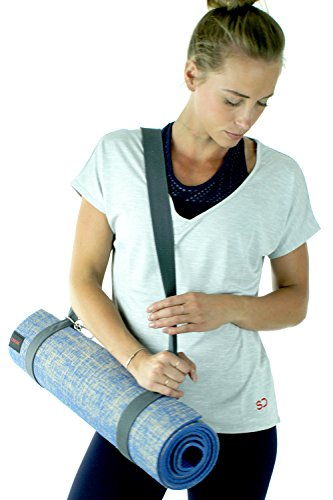 Large Non Slip Thick Jute Eco Yoga Mat With Strap By Sundried