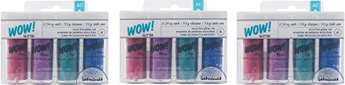 Fine Light Pink Glitter (Extra Fine Glitter Set - Princess Colors - Taffy, Purple, Light Blue and Pink. Great for DIY Projects, General Crafting and Making Princess Slime (3 Pack))