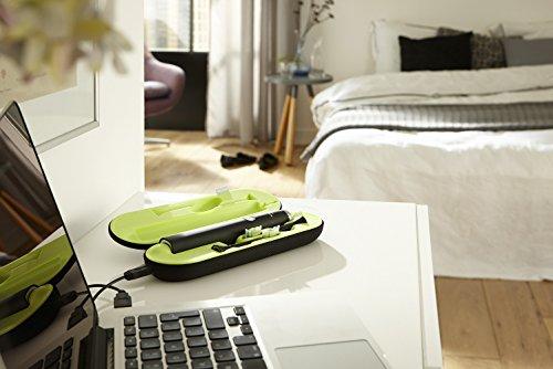 Philips Sonicare DiamondClean Elektrische Zahnbürste mit Schalltechnologie, Black Edition HX9352/04, 2 Watt, schwarz -