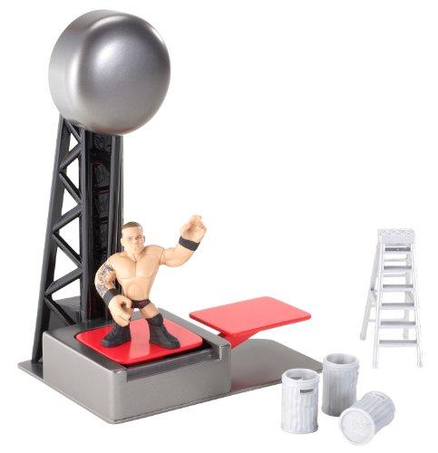 WWE Rumblers - Ringing Entrance - Rey Mysterio - Figurine 5cm + Entrée-Lanceur (Import UK)