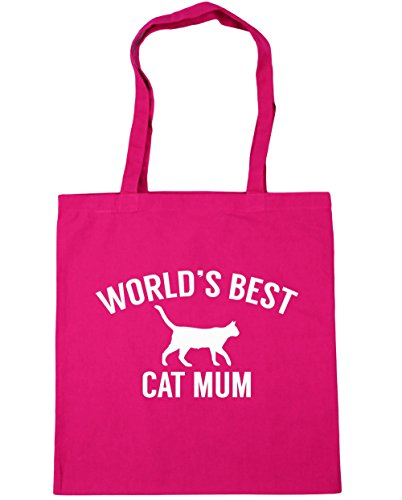 hippowarehouse-worlds-best-cat-mum-tote-shopping-gym-beach-bag-42cm-x38cm-10-litres